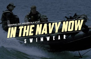 In The Navy Now: Swimwear
