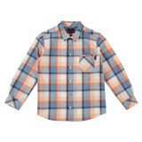 Boys' Sky Blue Plaid Shirt