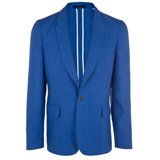 Slim-Fit Cobalt Blue Linen Jacket