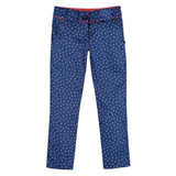 Girls' Navy Star Print Trousers