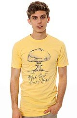 The Overcast Tee in Light Yellow