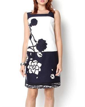 Evan Picone Sleeveless Floral Dress