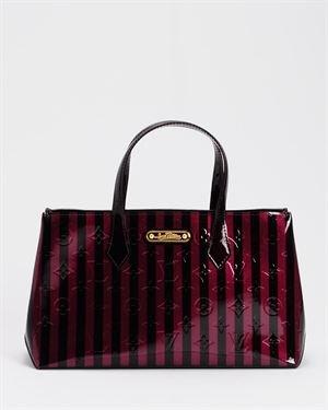 Louis Vuitton LN Vernis Monogram Striped Wilshire PM Handbag- Made in France