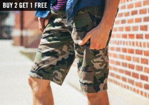 Shop FUSAI: New Camo Shorts & More
