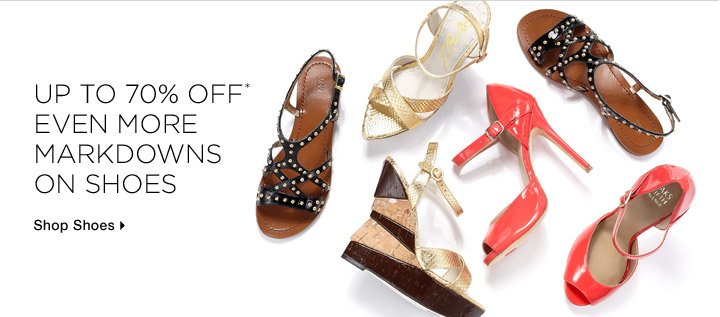 Up to 70% Off* Even More Markdowns On Shoes
