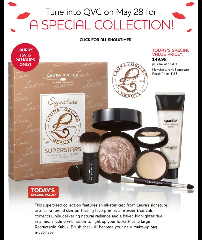 Tune into QVC on May 28th for a special collection!  Today's special Value Price: $49.98 plus s&h.  Manufacturers suggested retail price $158.
