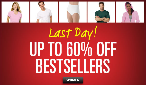 Up to 60% off Bestsellers for Her