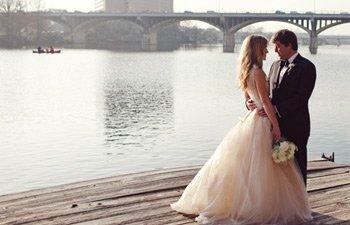 Vera Wang Real wedding Texas
