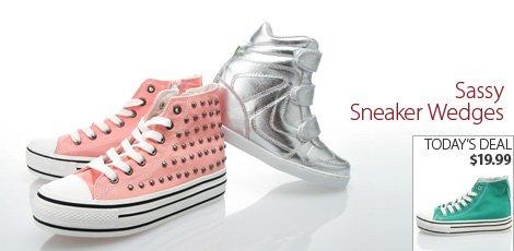 Sassy Sneaker Wedges