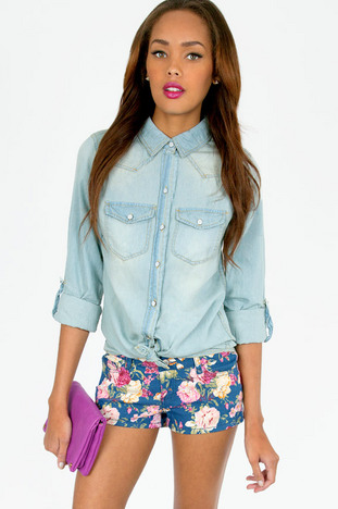 JENNA DENIM BUTTON DOWN 29