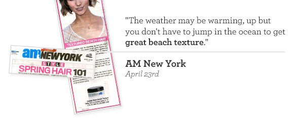 The weather may be warming, up but you don't have to jump in the ocean to get great beach texture. AM New York - April 23rd
