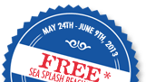 Free Sea Splash Beach Towel