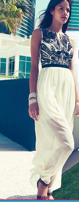 Cornelli Trim Maxi Dress