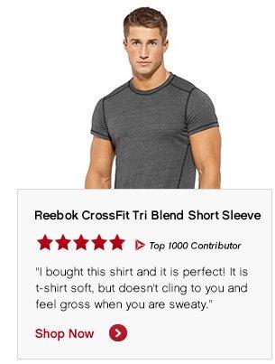 Reebok CrossFit Tri Blend Short Sleeve Shop Now »