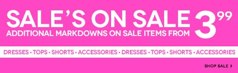Shop Additional Markdowns on Sale Items! Deals start at $3.99