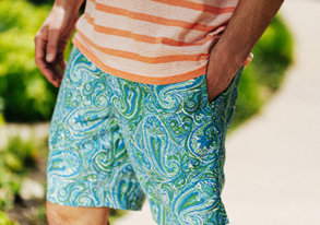 Shop Liquid Flow Patterned Boardshorts