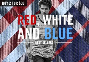 Shop Red, White & Blue 2 for $30