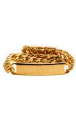 Mister The ID Bracelet in Gold