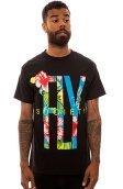 Fly Society The Viva La Tropics Tee in Black