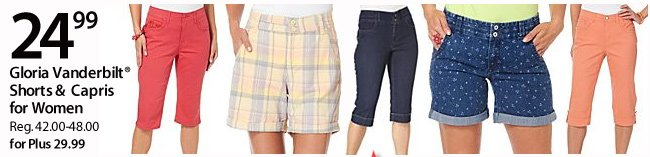 $24.99 Gloria Vanderbilt Shorts & Capris for women
