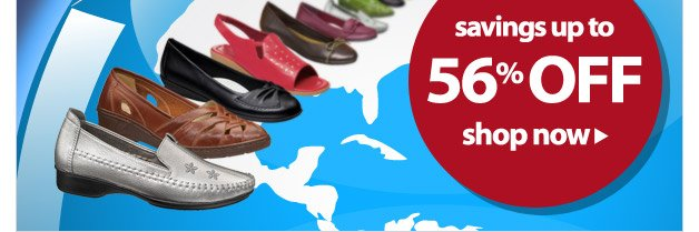 this shoe sale is out of this world - save up to 56%