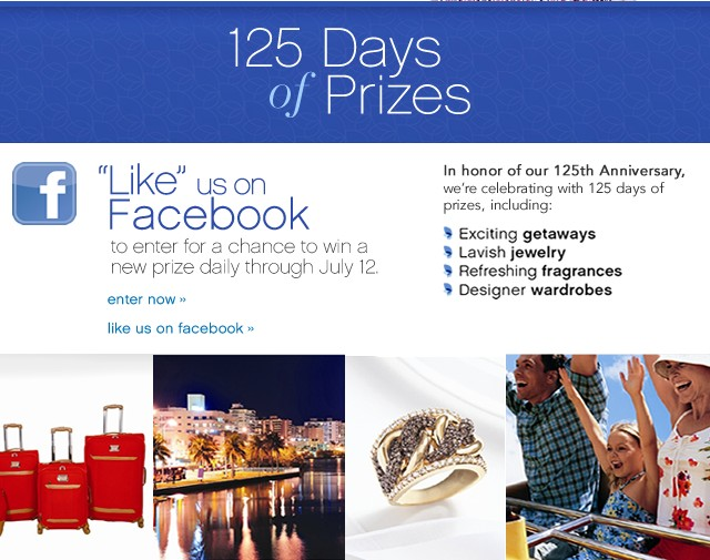 125 Days of Prizes. Enter now.