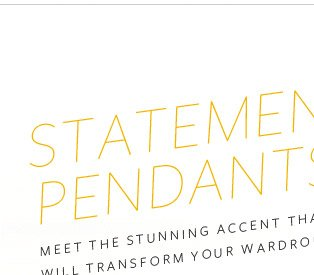 Statement Pendants - Meet the stunning accent that will transform your wardrobe.
