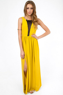 ARIEL V-MESH MAXI DRESS 44
