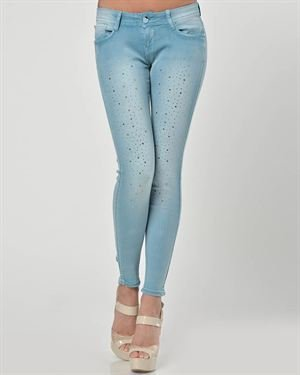 Nero Su Bianco Rhinestone & Bow Embellished Ankle Jeans Made in Italy