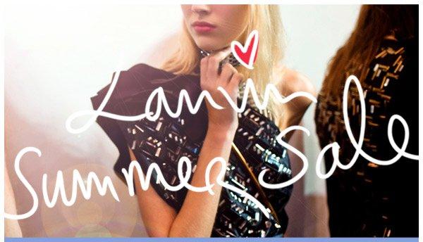 Lanvin Summer Sale
