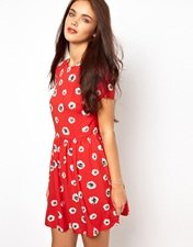 River Island Daisy Print Smock Dress