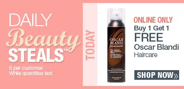 Today's Beauty Steal - Online Only - Buy 1 Get 1 FREE Oscar Blandi Haircare. Shop Now.