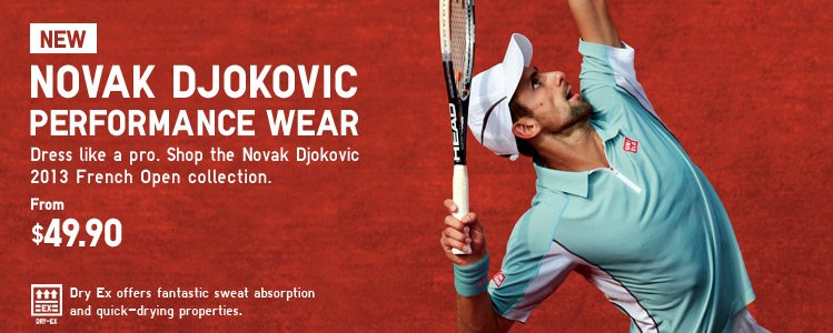 NOVAK DJOCOVIC PERFORMANCE WEAR