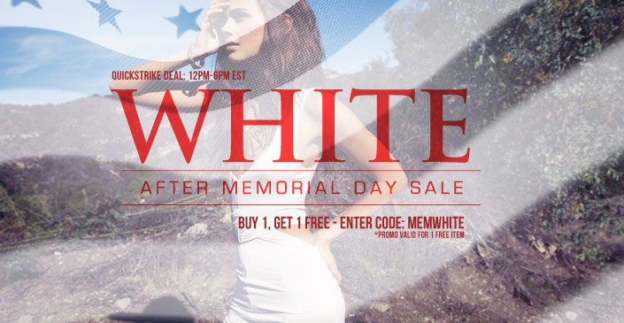 White After Memorial Day Sale