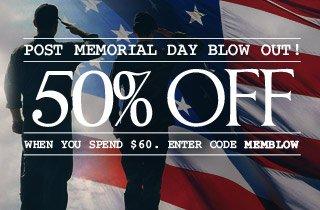 Post Memorial Day Blowout