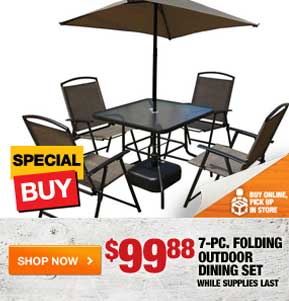 $99.88 7-pc. Folding Outdoor Dining Set
