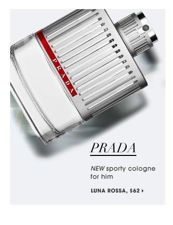 NEW sporty cologne for him | Prada Luna Rossa, $62