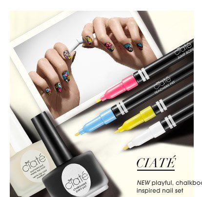 NEW playful, chalkboard-inspired nail set