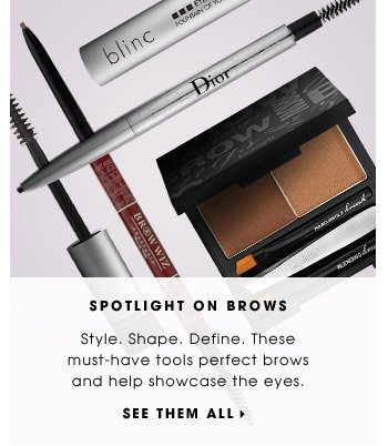 Spotlight On Brows | Style. Shape. Define. These must-have tools perfect brows and help showcase the eyes. | See them all