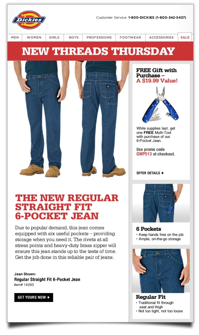 New Threads Thursday: 6-Pocket Jean, Plus FREE Gift