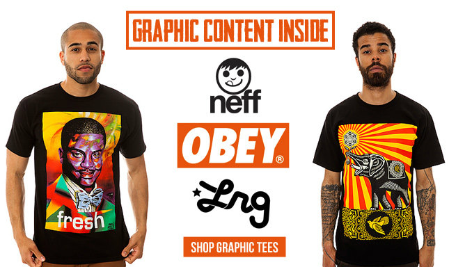 Graphic Tees from Obey, LRG, Diamond Supply and More