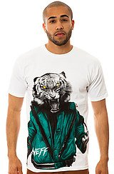 The Tiger Thrill Tee in White