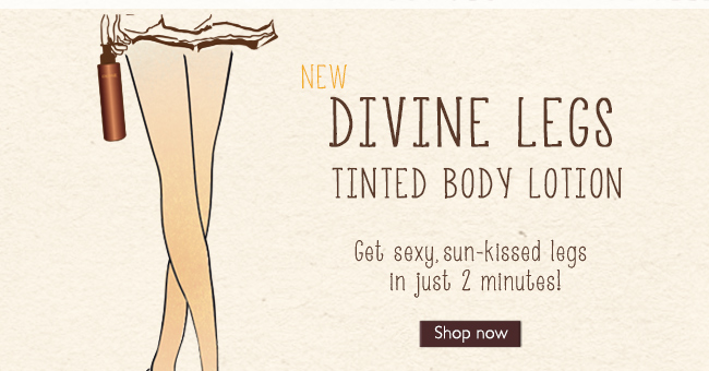 NEW DIVINE LEGS Tinted Body Lotion: Get sexy, sun-kissed legs in just 2 minutes!