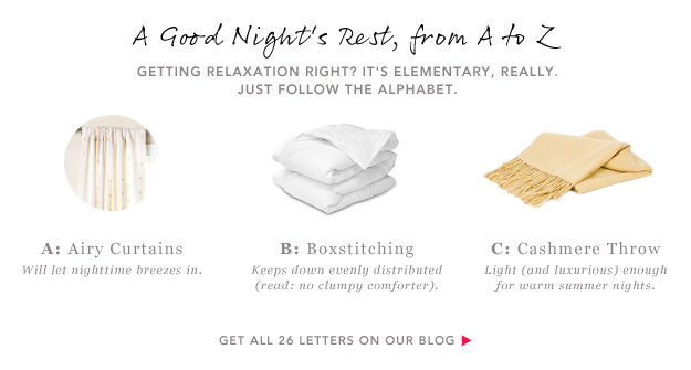 A Good Night's Rest, From A to Z