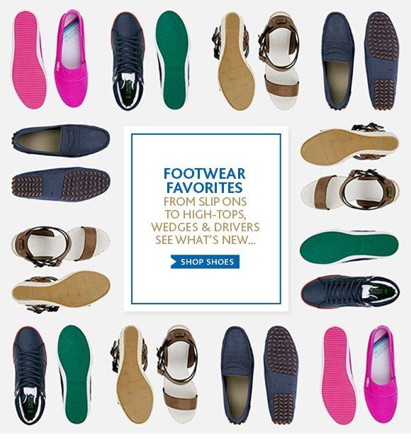 FOOTWEAR FAVORITES. SHOP SHOES