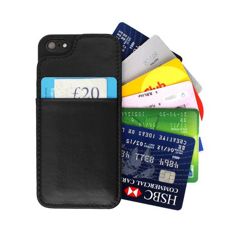 Slim Leather Wallet Case // iPhone 5