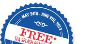 Free Sea Splash Beach Towel