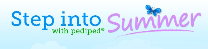 Step into Summer with pediped