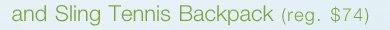 Sling Tennis Backpack (reg. $74)