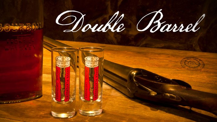 Shotgun Cartridge Shooter Glass Set of 2
